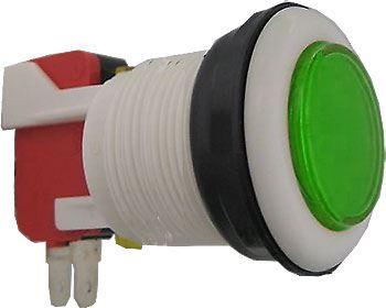 Tlačítko ON-(ON) 1p.250V/10A s mikrospínačem zel.