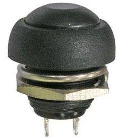 Tlačítko PBS-33B, OFF-(ON) 1pol.250V/1A plastové černé