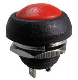 Tlačítko OFF-(ON) 1pol.250V/1A plastové červené