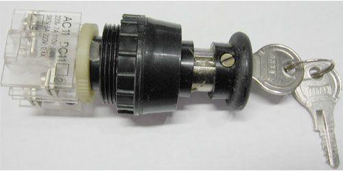 Tlačítko se zámkem ENERGOINVEST černé, 230V/5A