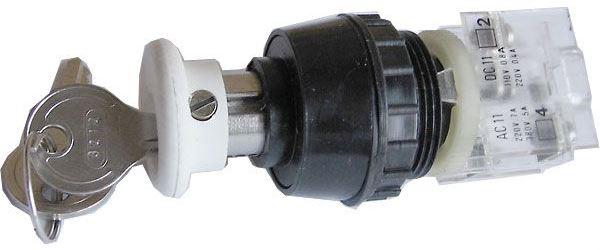 Tlačítko se zámkem ENERGOINVEST bílé, 230V/5A