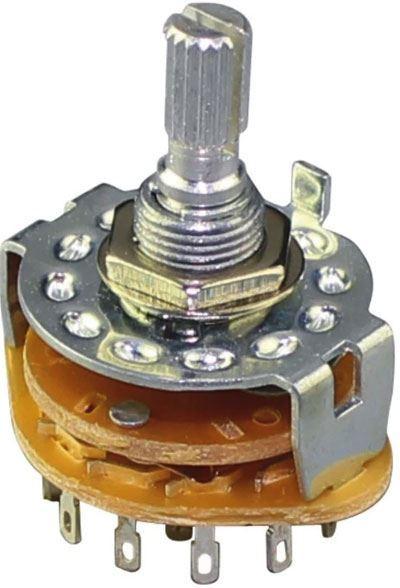 Přepínač otočný RBS-1, 2póly, 6poloh 250V/0,3A