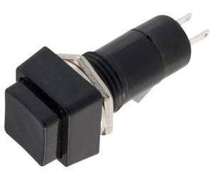 Vypínač stiskací OFF-ON 1pol.250V/1A černý