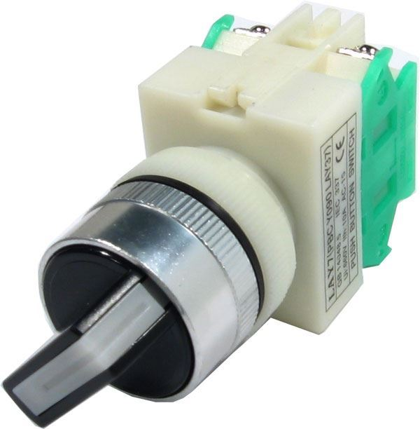 Přepínač otočný LAY7 (Y090-20X/21), ON-OFF 2.pólový 250V/6A