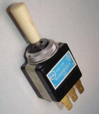 Přepínač páčkový ON-OFF-ON 12V/5A PAL 443853105023