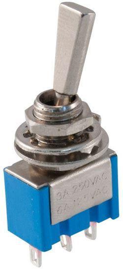 Přepínač páčkový MTS-102-F1, ON-ON, 1pol. 250V/3A