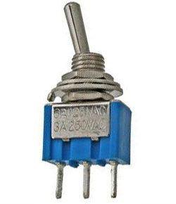 Přepínač páčkový ON-ON 1pol.250V/3A mini-otvor 6mm