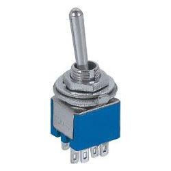 Přepínač páčkový ON-ON 2pol.250V/1A submini-otv.5