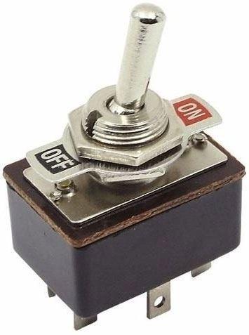 Vypínač páčkový KN3-3, ON-ON 2pol.250V/2A