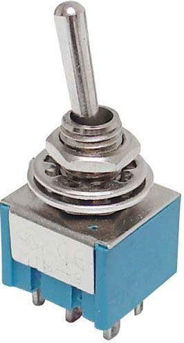 Přepínač páčkový ON-OFF-ON 2pol.250V/3A mini