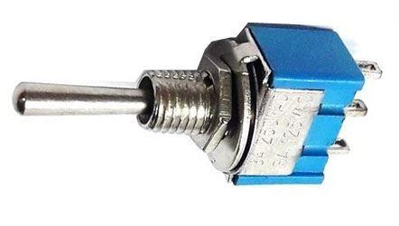 Přepínač páčkový (ON)-OFF-(ON) 1pol.250V/3A mini