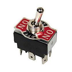 Přepínač páčkový ON-OFF-ON 2pol.250V/10A