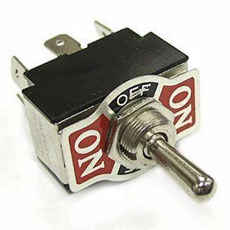 Přepínač páčkový (ON)-OFF-(ON) 2pol.250V/10A