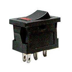 Vypínač kolébkový OFF-ON 1pol.250V/3A s LED