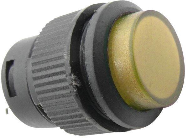 Vypínač stiskací R16-503AD 1pól. OFF-ON 250V/3A žluté prosvětlené