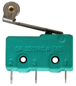 Mikrospínač ON-(ON) 1pol.250V/5A s páčkou 17mm