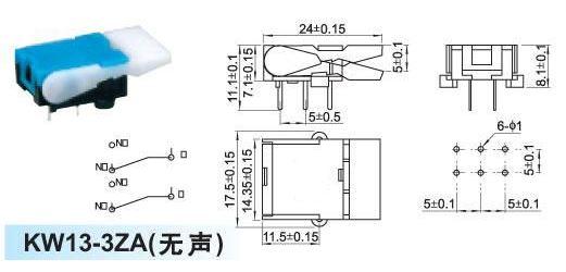 Mikrospínač telefonní KW13-3ZC