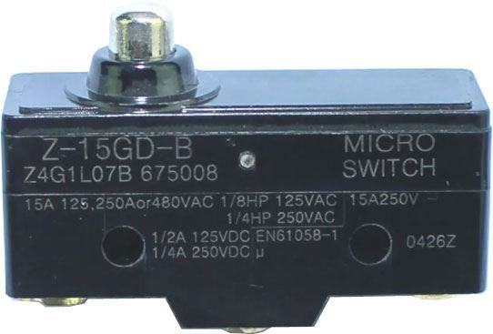 Mikrospínač Z-15GD-B 250VAC/15A