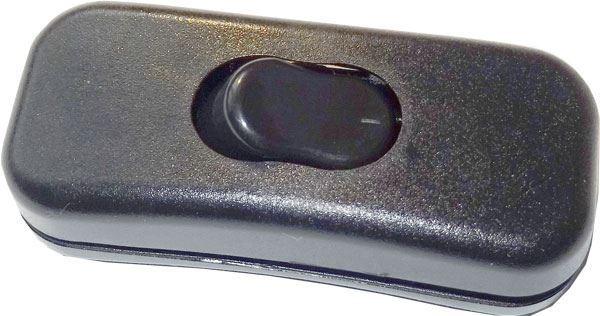 Vypínač mezišňůrový 250V/2A černý