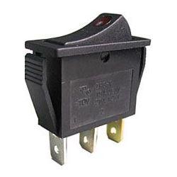 Vypínač kolébkový OFF-ON 1pol.250V/10A s doutnavkou