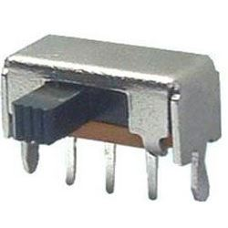 Přepínač posuvný SK-12F03G5, ON-ON 1pólový, 50V/0,5A úhlový