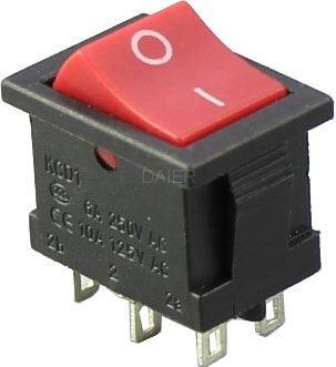 Přepínač kolébkový ON-ON 2pol.250V/3A I-II