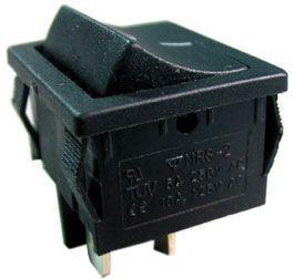 Vypínač kolébkový OFF-ON 2pol.250V/3A černý
