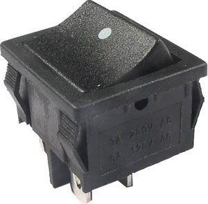 Tlačítko kolébkové OFF-(ON) 2pol.250V/6A černé