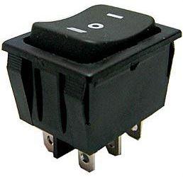 Tlačítko kolébkové(ON)-OFF-(ON) 2p.250V/15A I-O-II