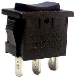 Tlačítko kolébkové (ON)-OFF-(ON) 1pol.250V/6A