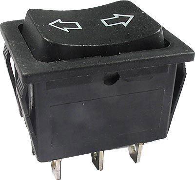 Tlačítko kolébkové (ON)-OFF-(ON) 250V/10A 2P(šipky)