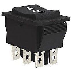 Tlačítko kolébkové KCD2-223, (ON)-OFF-(ON) 250V/10A 2P I-0-II