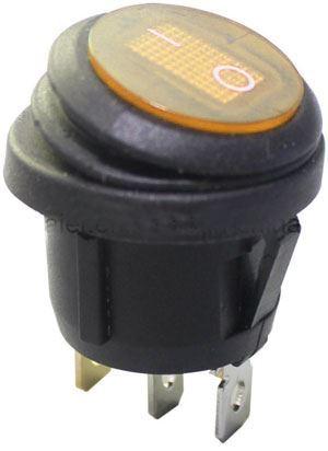 Vypínač kolébkový KCD1-5-101NW, OFF-ON 1pol.250V/6A oranžový vodotěsný