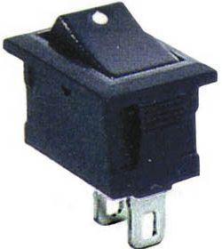 Přepínač kolébkový SMRS-101-1, OFF-ON 1pol.250V/1A černý