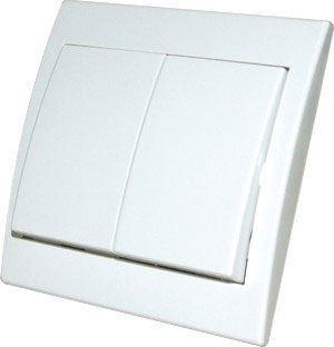 Vypínač č.5 plochý pod omítku PRAKTIK 4FN58002 bílý