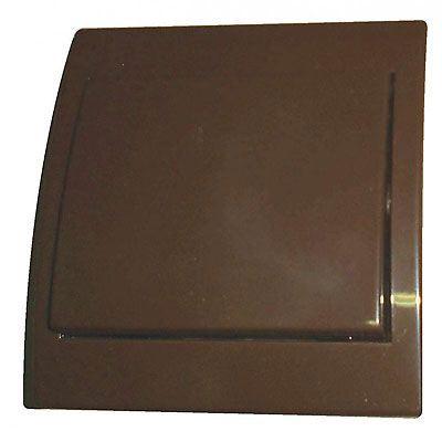 Vypínač č.6 plochý pod omítku PRAKTIK 4FN58005 hnědý