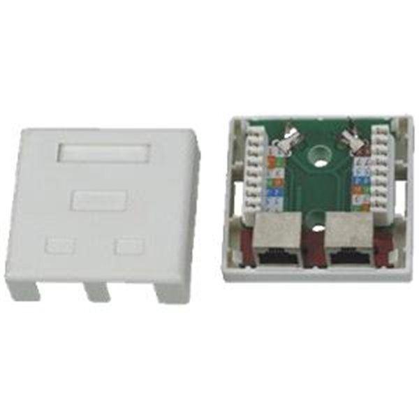 Síťová zásuvka 2xRJ45 na omítku Datacom