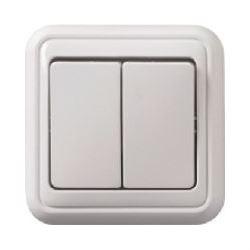Vypínač č.5 PANELÁK bílý, na omítku
