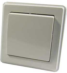 Vypínač č.1 plochý pod omítku bílý s rámečkem