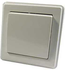 Vypínač č.6 plochý pod omítku bílý s rámečkem