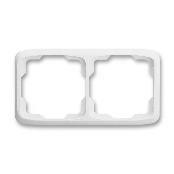 3901A-B20 B Rámeček dvojnásobný vodorovný, bílá, ABB Tango
