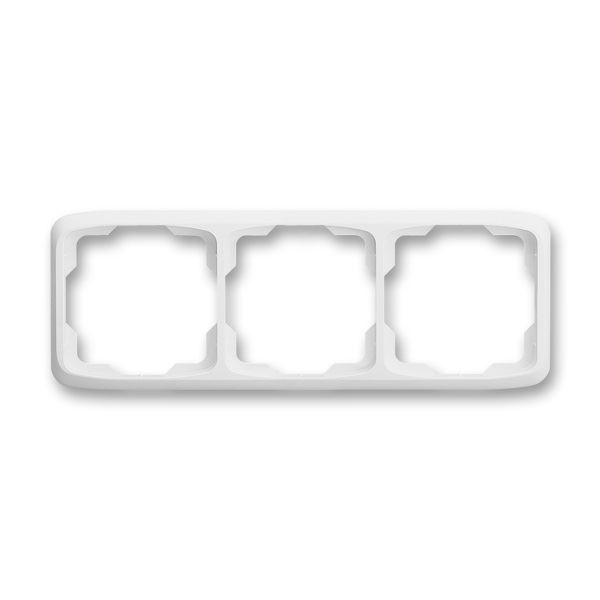 3901A-B30 B Rámeček trojnásobný vodorovný, bílá, ABB Tango