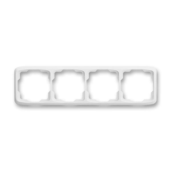 3901A-B40 B Rámeček čtyřnásobný vodorovný, bílá, ABB Tango
