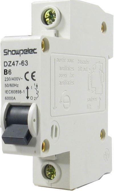 Jistič DZ47 230V/6A/B 1fázový na DIN lištu