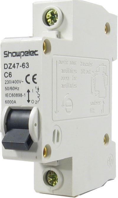 Jistič DZ47 230V/6A/C 1fázový na DIN lištu