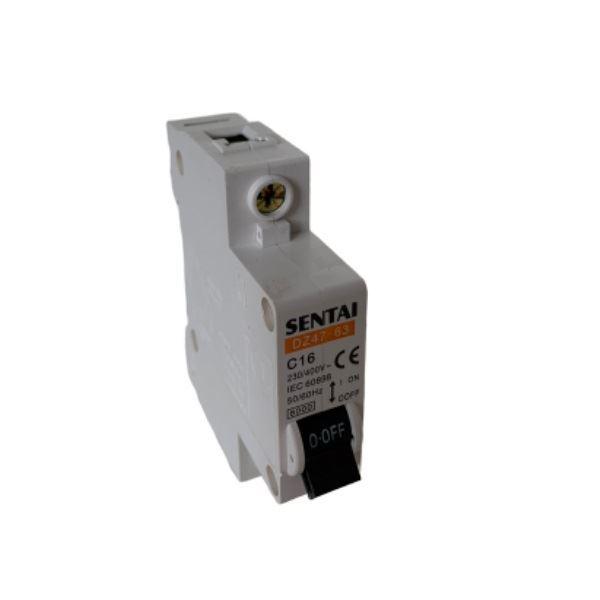 Jistič TSM-63 230V/16A/C 1fázový na DIN lištu
