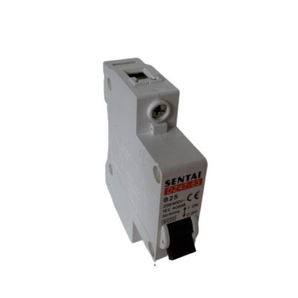 Jistič DZ47 230V/25A/B 1fázový na DIN lištu