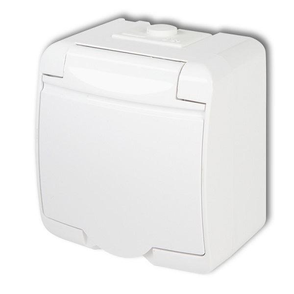 Zásuvka 250V/16A IP54, bílá, Karlik