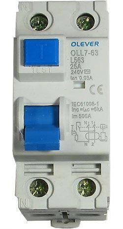 Chránič ID 240V/25A-30mA 1fázový na DIN lištu