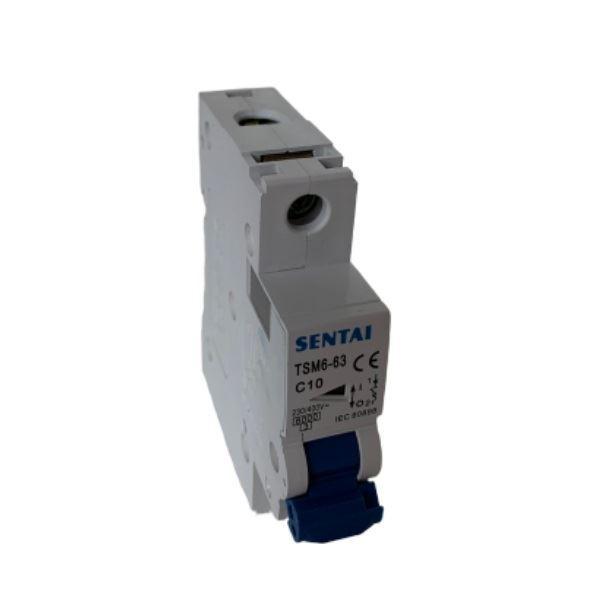 Jistič TSM6-63 230V/10A/C 1fázový na DIN lištu